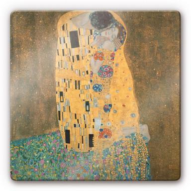 Glasbild Klimt - Der Kuss