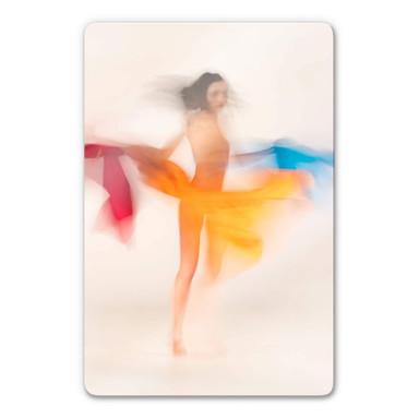Glasbild Raga - Tanzende Farben
