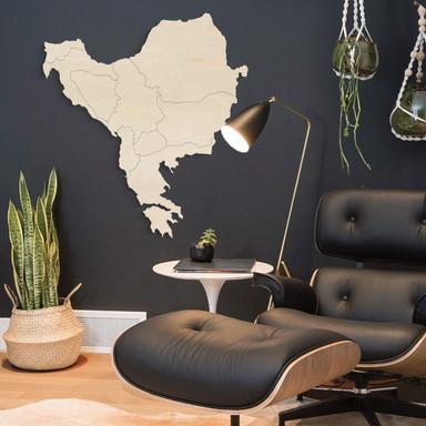 Holzkunst Pappel Furnier - Karte Balkan Südosteuropa