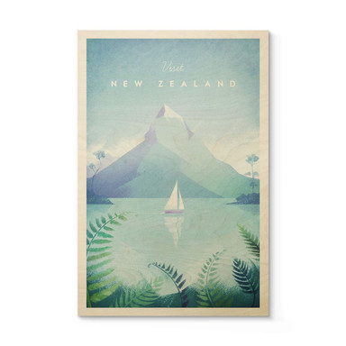 Holzposter Rivers - Neuseeland