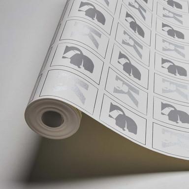 Karl Lagerfeld Wallpaper Vliestapete Kameo grau, schwarz, weiss