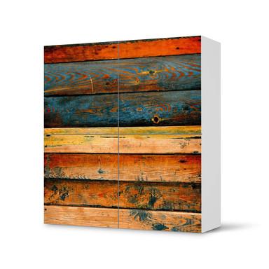 Klebefolie IKEA Besta Schrank 4 Türen - Wooden- Bild 1