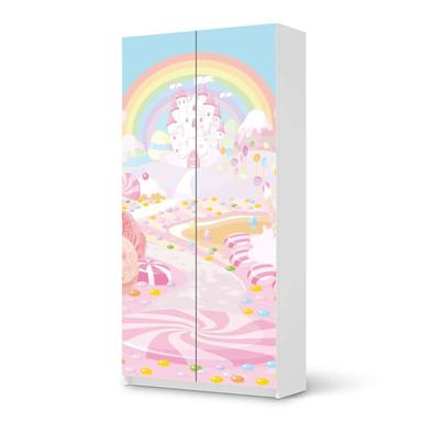 Klebefolie IKEA Pax Schrank 201cm Höhe - 2 Türen - Candyland
