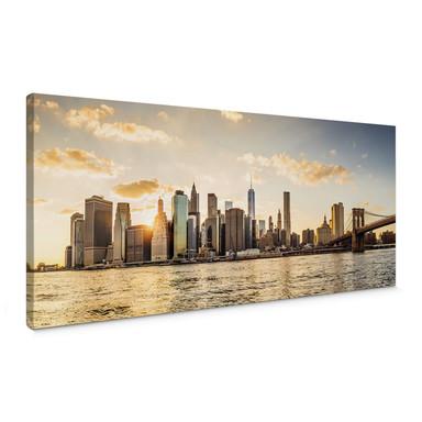 Leinwandbild Sundown in Manhattan