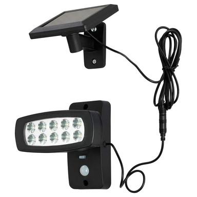 Müller-Licht LED Solar-Gartenleuchte Schwarz IP44 1.6W 150lm Tageslichtweiss 6500K mit Sensor