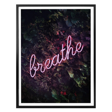 Poster Sisi & Seb - Leuchtschrift: Breathe