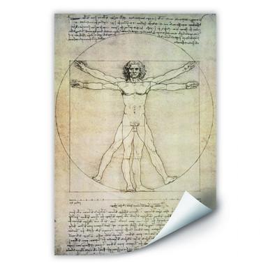 Wallprint Da Vinci - Proportionszeichnung