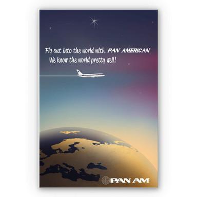 Wandbild PAN AM - Worldwide
