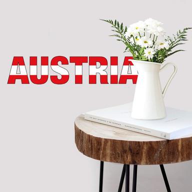 Wandsticker Austria Schriftzug