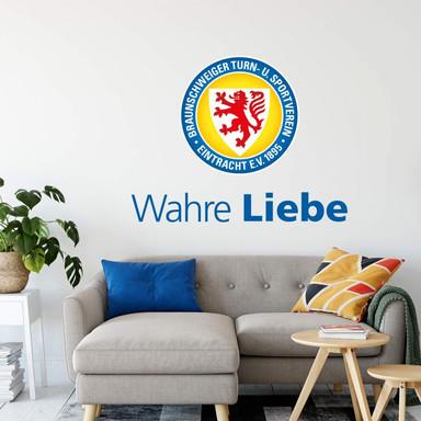 Wandsticker Eintracht Braunschweig Wahre Liebe