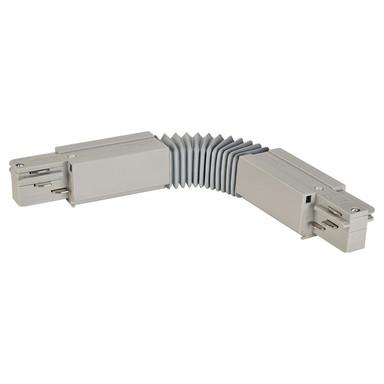 3-Phasen Schienensystem, Aufbauschiene, Flex-Verbinder, silber-grau
