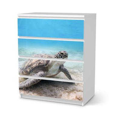 Folie IKEA Malm Kommode 4 Schubladen - Green Sea Turtle- Bild 1