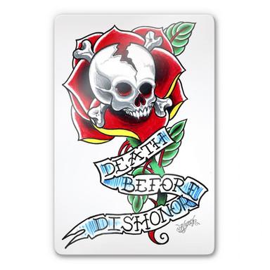 Glasbild Miami Ink Death Before Dishonor