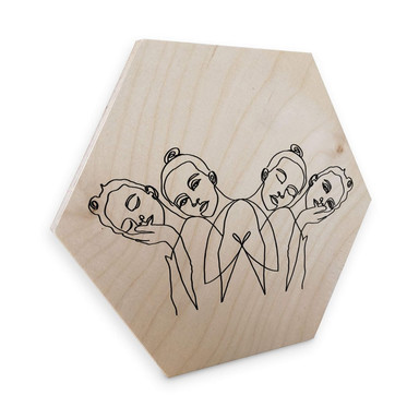 Hexagon - Holz Birke-Furnier Hariri - Girls