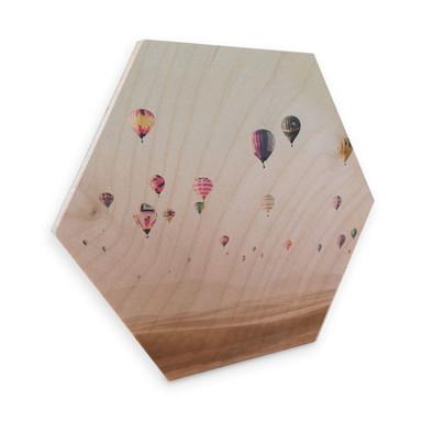 Hexagon - Holz Birke-Furnier - Sisi & Seb - Heissluftballons