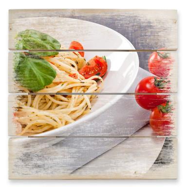 Holzbild Pasta Italiano