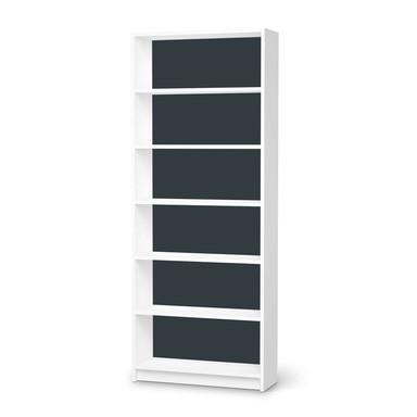 Klebefolie IKEA Billy Regal 6 Fächer - Blaugrau Dark- Bild 1