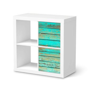 Klebefolie IKEA Expedit Regal 2 Türen (hoch) - Wooden Aqua