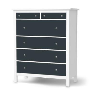 Klebefolie IKEA Hemnes Kommode 6 Schubladen - Blaugrau Dark- Bild 1