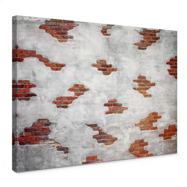 Leinwandbild Backsteinmauer