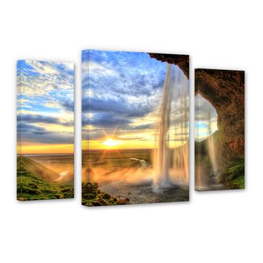 Leinwandbild Seljalandsfoss Wasserfall (3-teilig)