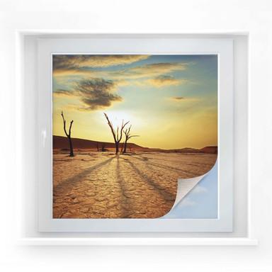 Sichtschutzfolie Desert Valley - quadratisch