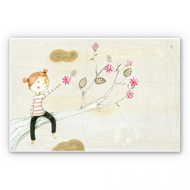 Wandbild Loske - Blumenbaum