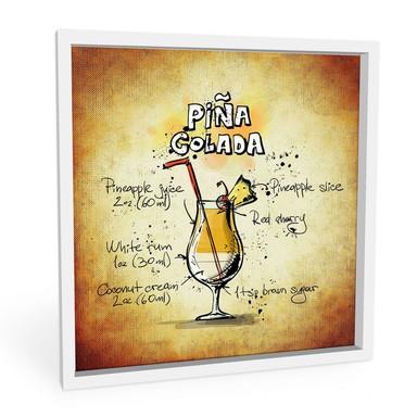 Wandbild Pina Colada - Rezept