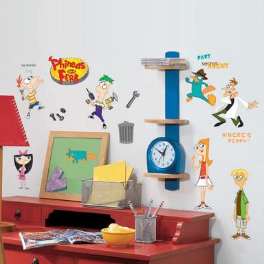 Wandsticker-Set - Phineas and Ferb 37-tlg. - Bild 1