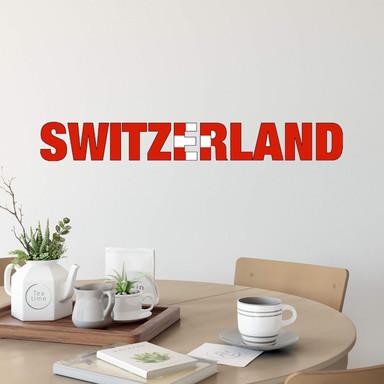 Wandsticker Switzerland Schriftzug