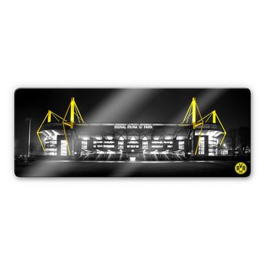 Glasbild BVB Signal Iduna Park Schwarz-Gelb
