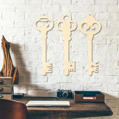 Holzkunst Pappel - Schlüssel (3er Set) - Bild 1