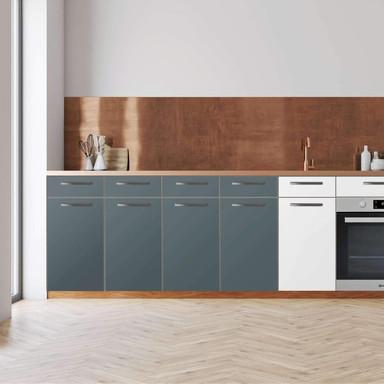 Küchenfolie - Unterschrank 160cm Breite - Blaugrau Light