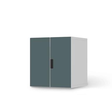 Möbelfolie IKEA Stuva / Malad Schrank - 2 kleine Türen - Blaugrau Light