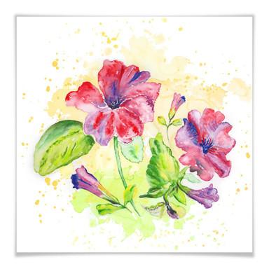 Poster Toetzke - Leuchtender Blütenkelch - quadratisch