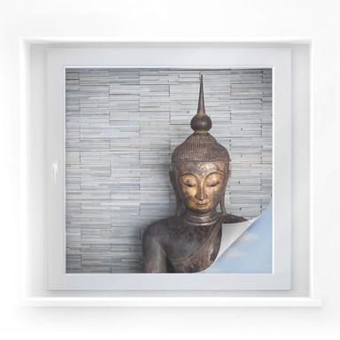 Sichtschutzfolie Thailand Buddha - quadratisch
