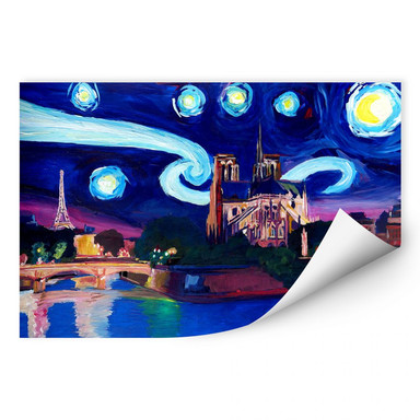 Wallprint Bleichner - Paris bei Nacht