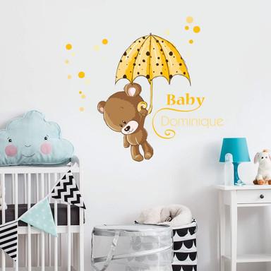 Wandsticker Baby Gelb