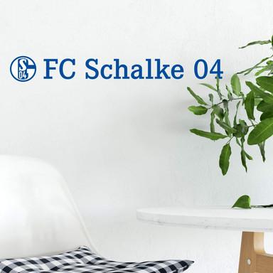 Wandsticker Schalke 04 Logo mit Schriftzug