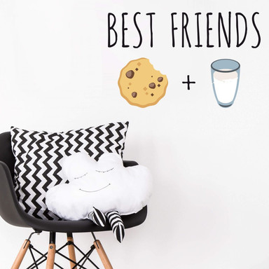 Wandtattoo Emoji Best Friends 2