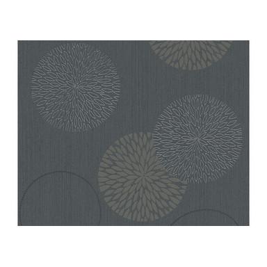 A.S. Création Vliestapete Black & White Blumentapete floral grau, schwarz