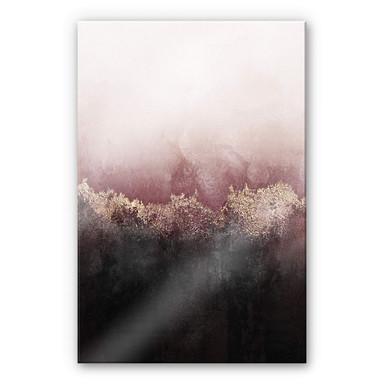 Acrylglasbild Fredriksson - Rosa Himmel