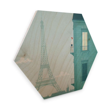 Hexagon - Holz Birke-Furnier - Rivers - Paris