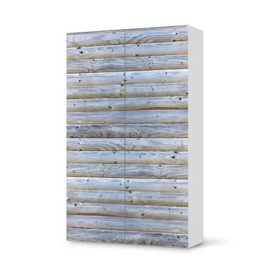 Klebefolie IKEA Besta Schrank 2 Türen (hoch) - Greyhound