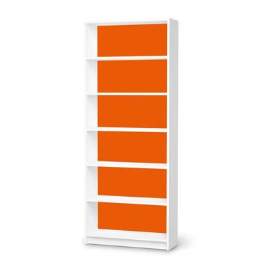 Klebefolie IKEA Billy Regal 6 Fächer - Orange Dark- Bild 1