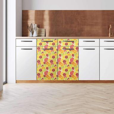 Küchenfolie - Unterschrank 80cm Breite - Citrus