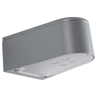 LED Wandleuchte Silber, eng / breit, Aluguss, 18W, 1575lm, 3000K, IP65. 85x196x138mm