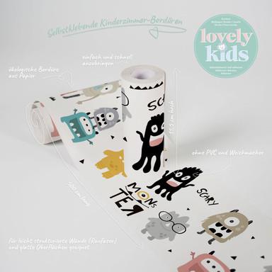 Lovely Kids selbstklebende Kinderzimmer Bordüre Monster Party mit niedlichen Monstern - Bild 1
