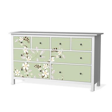 Möbelfolie IKEA Hemnes Kommode 8 Schubladen - White Blossoms