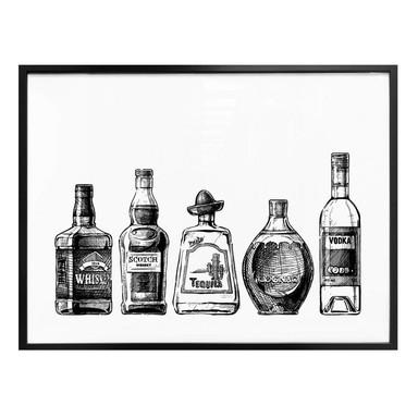 Poster 5 Flaschen voll Spass